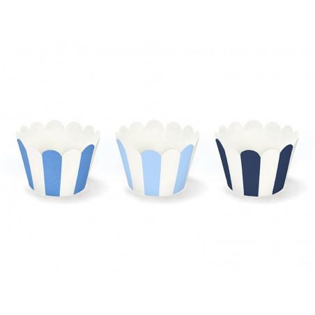 Papilotki na muffinki pasy niebieskie (Samolocik)