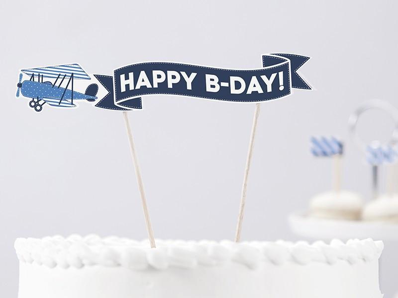 Dekoracja tortu Samolocik