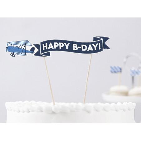 Banerek na tort Samolocik
