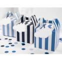 Pudełka na słodkości pasy niebieskie (Samolocik)