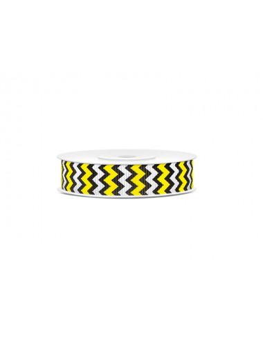 Tasiemka rypsowa zygzak żółto czarny