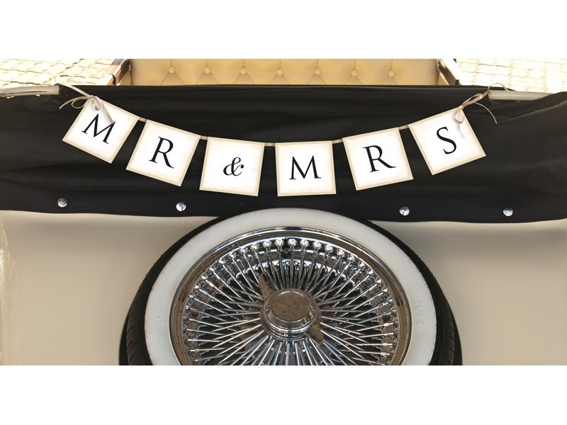 Baner napis Mr & Mrs