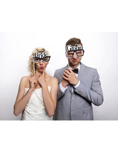 Okulary na piku Bride/Groom