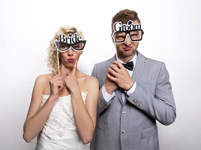 Karteczki Okulary Bride & Groom
