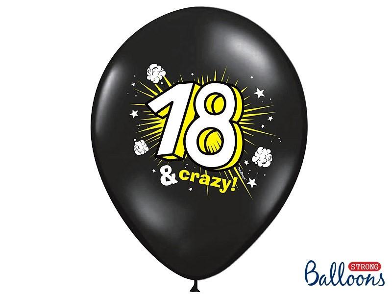 """Balony pastelowe osiemnastka """"18 & Crazy"""""""