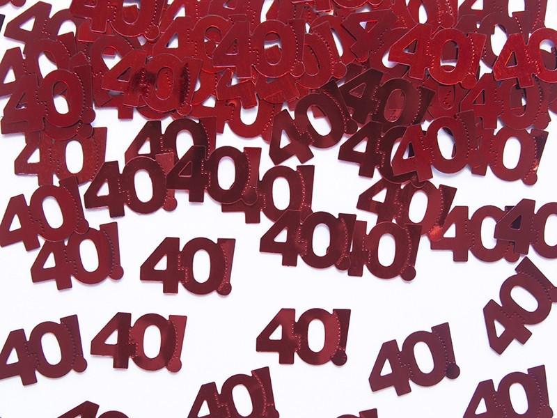 Konfetti - liczba 40