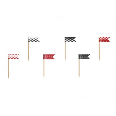 Flagi na piku do babeczek i deserów Biedronka