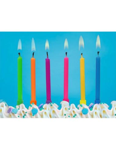 Świeczki urodzinowe jednokolorowe