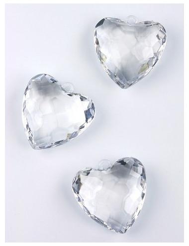 Zawieszki Serca kryształowe