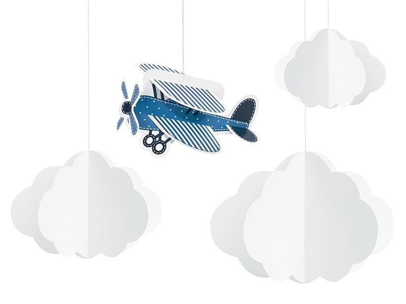 Zawieszki chmurki i samolocik