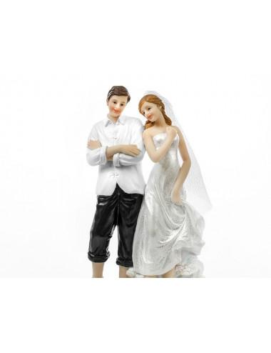Figurka na tort ślubny Plażowicze