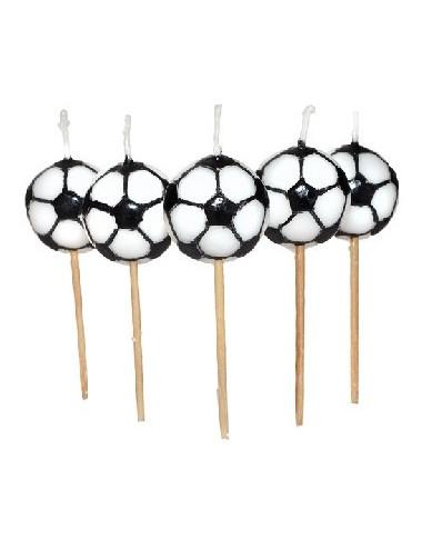 Świeczki na tort w kształcie piłki nożnej