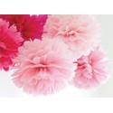Pompony kwiaty bibułowe