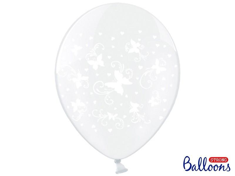 Balony z nadrukiem w motylki