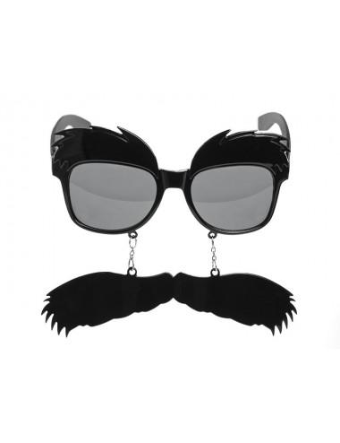 Okulary z wąsem i brwiami