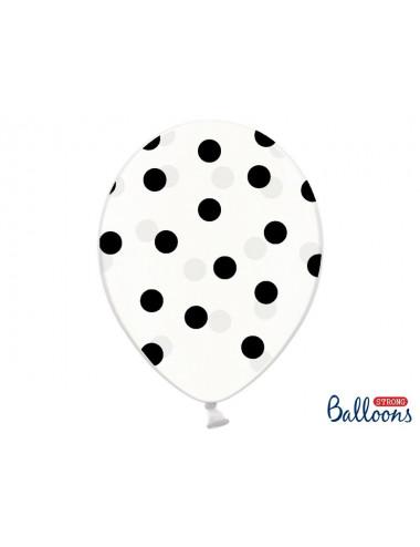 Balon przezroczysty w kropki