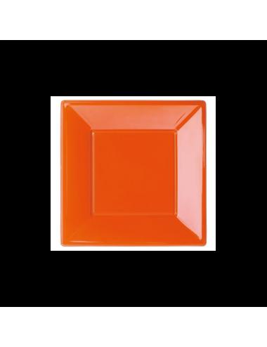Talerze plastikowe pomarańczowe