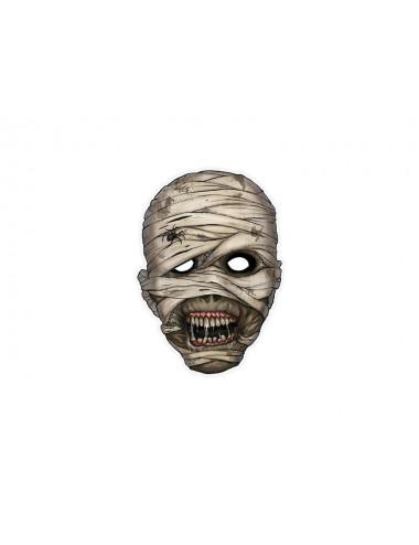 Maska papierowa mumia