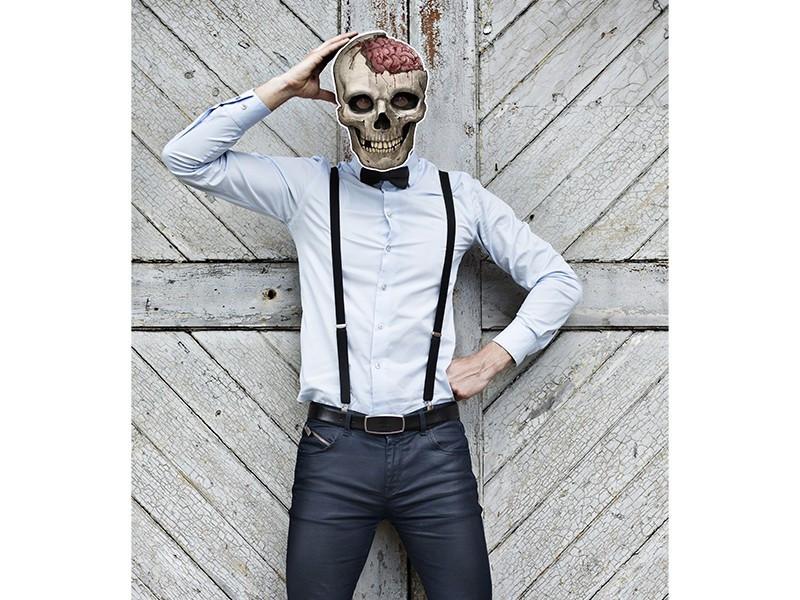 Maska papierowa Czaszka