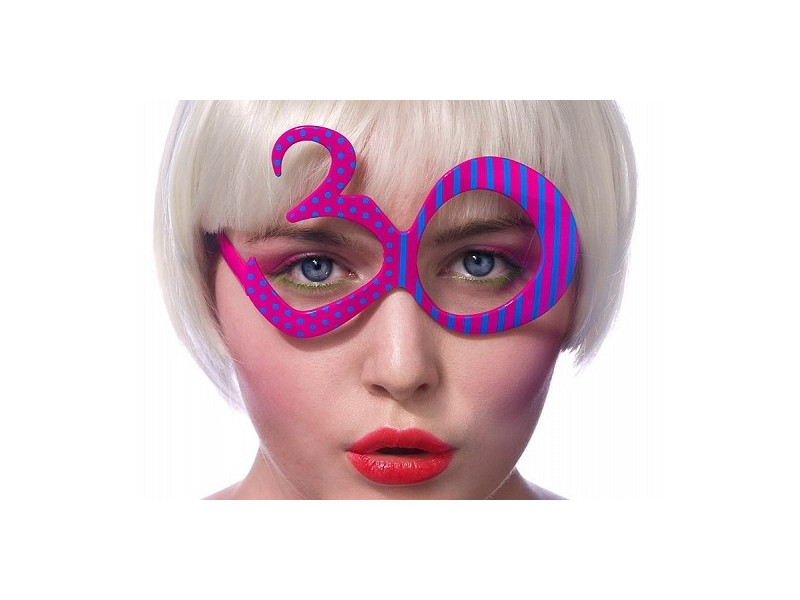 Okulary cyfry 30 urodziny