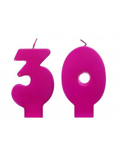 Świeczki urodzinowe 30 różowe
