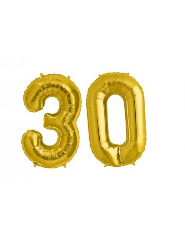 Balon foliowy olbrzymia 30 złota