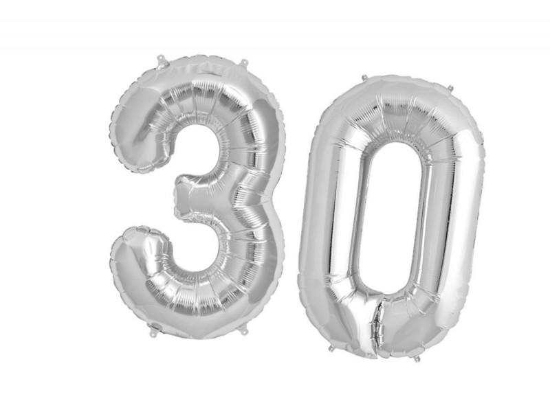 Balon foliowy olbrzymia 30 srebrne