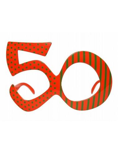 Okulary cyfry 50 urodziny