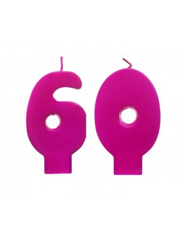 Świeczki urodzinowe 60 różowe