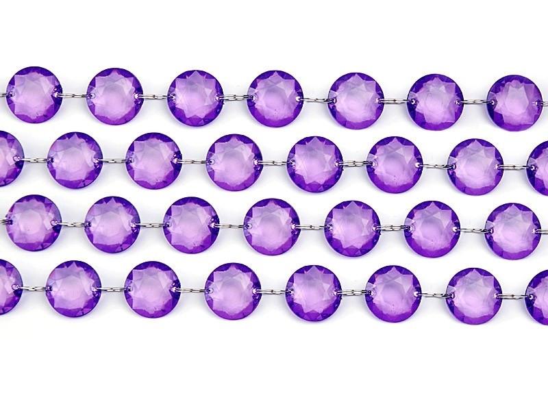 Fioletowa girlanda kryształowa