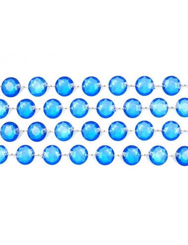 turkusowa girlanda kryształowa