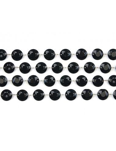 czarna girlanda kryształowa