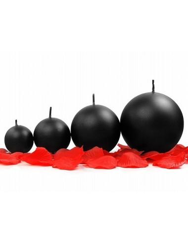 Świece kule metalizowane czarne