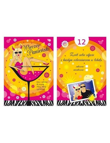 Karty na wieczór panieński w klubie
