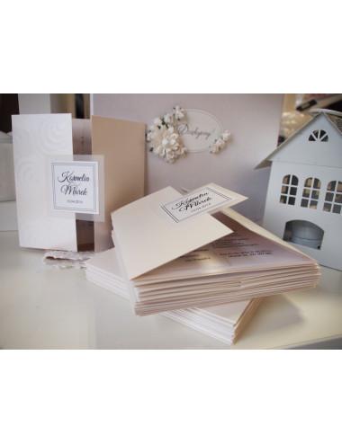 Zaproszenie ślubne z kalką kolekcja kalka