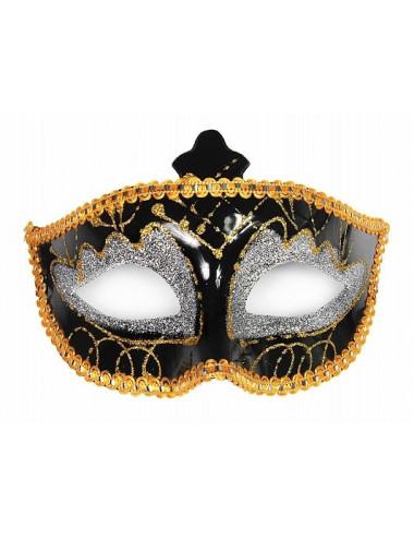 Maska srebrno - złota karnawał