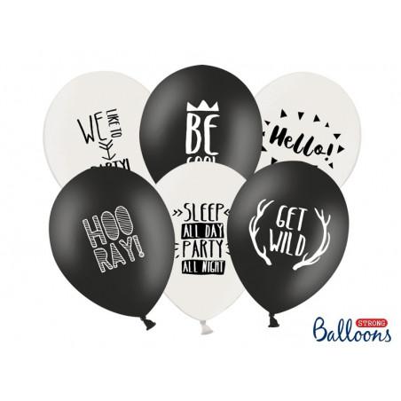 Balony Party  czarno białe