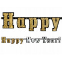 Baner Happy New Year holograficzny