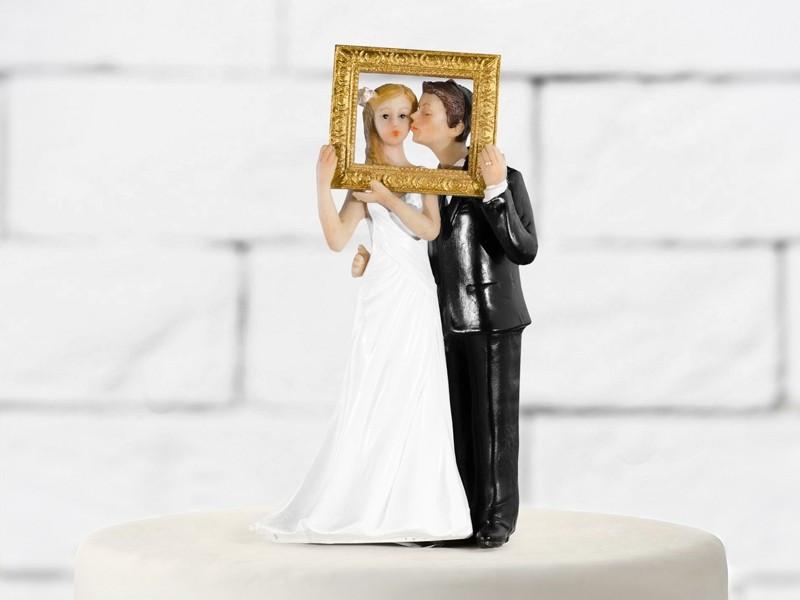 Figurka ślubna na tort z Ramą Obrazu