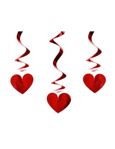 Świderki serca metalizowane