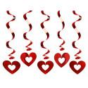 Świderki serca mtalizowane