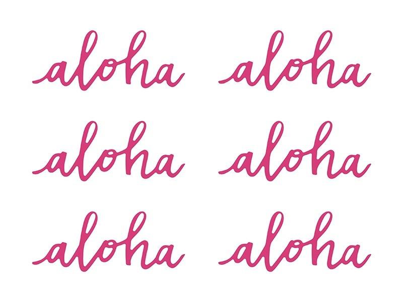 Dekoracje papierowe napisy Aloha