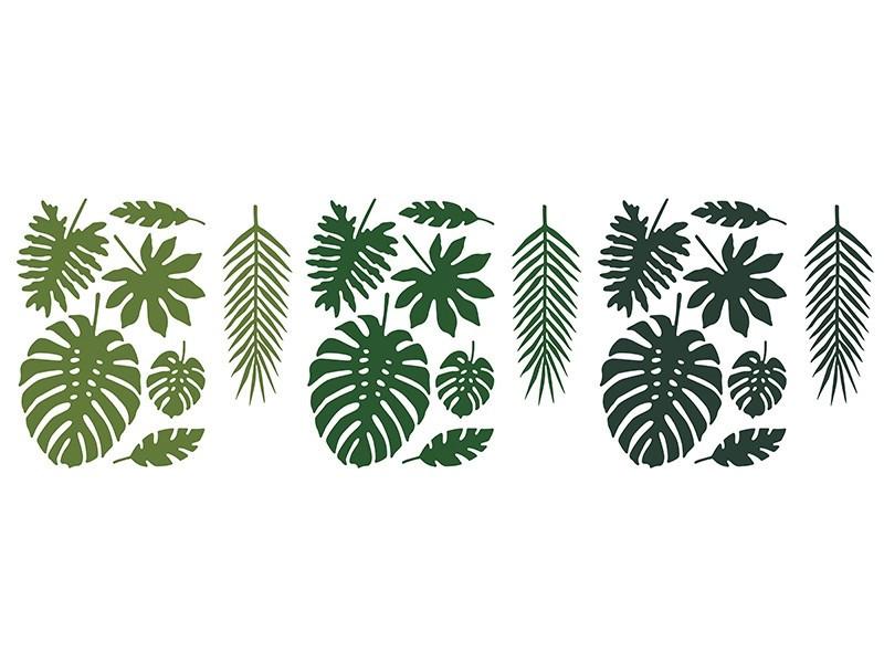 Zestaw liści tropikalnych Aloha