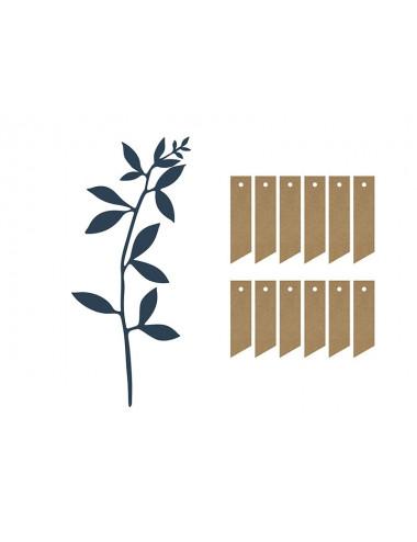Dekoracyjna gałązka z listkami i zawieszkami