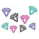 Dekoracje wiszące zawieszki diamenty