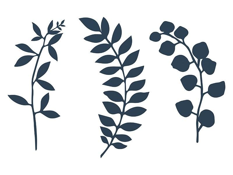 Dekoracja gałązka z listkami