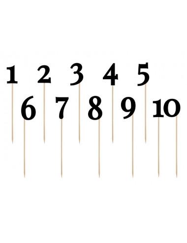 Cyfry na piku numery liczby
