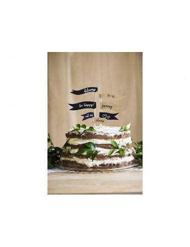 Flagietki dekoracja na tort