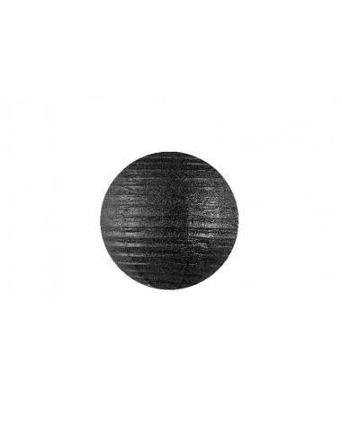 Czarne lampiony brokatowe