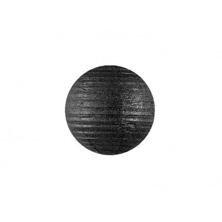 Lampion czarny brokatowy